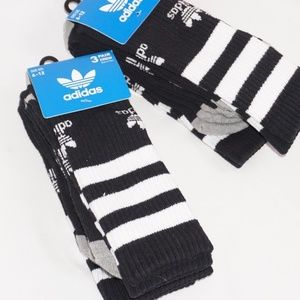 Six Pair of ADIDAS Crew Cut Men's Socks, Size 6-12